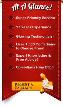hire a corporate comedian info